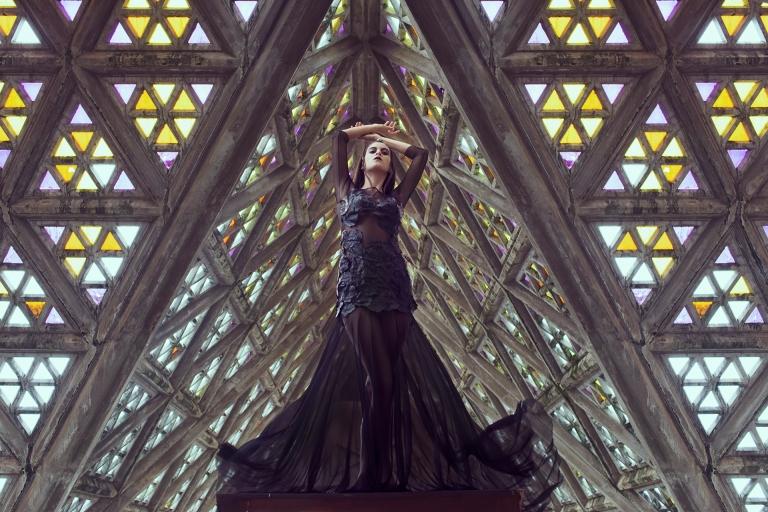 Producción de fotos gótica en la iglesia de Soca